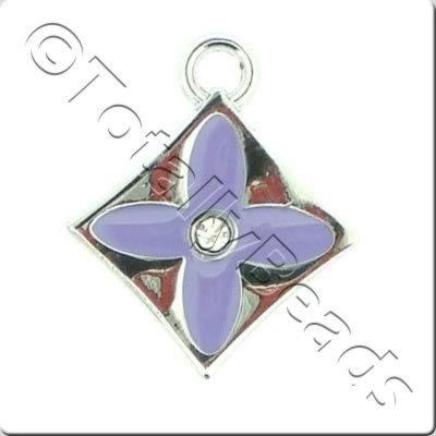Enamel Charm - Diamond - Purple