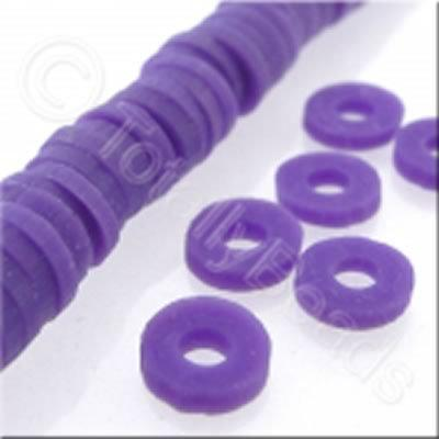 Fimo Heishi Disc 6mm - Purple - 150pcs