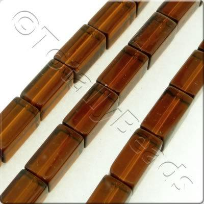 Glass Cuboid - 12.5x6.5mm - Dark Brown - 28pcs