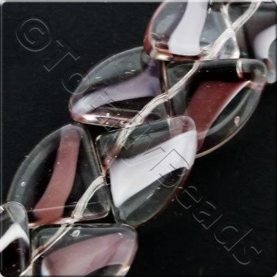 Glass Quadrant - 15mm - Amethyst - 28pcs