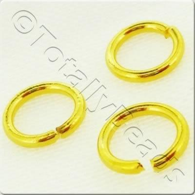 Jump Rings 8x1.2mm - Gold Plated