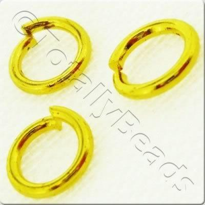 Jump Rings 5mm - Gold Plated