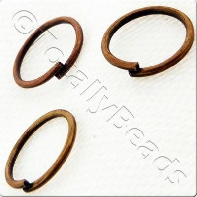 Jump Rings 8mm - Red Copper