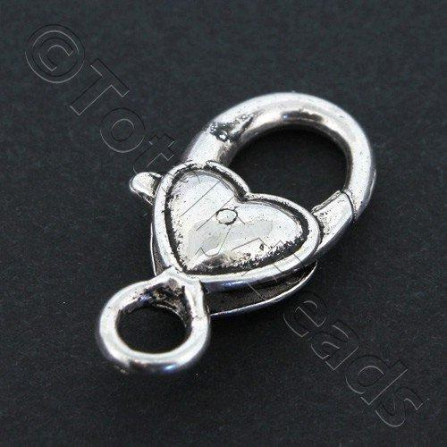 Tibetan Silver Clasps - Heart Lobster 27mm
