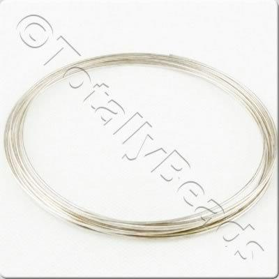 Bracelet Memory Wire 20 Loops - Silver Plated