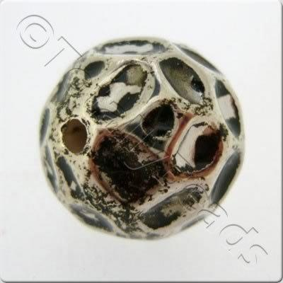 Acrylic Antique Silver Bead - Large Spotty 20mm