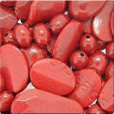 Acrylic - Imitation Stone - Red Mix