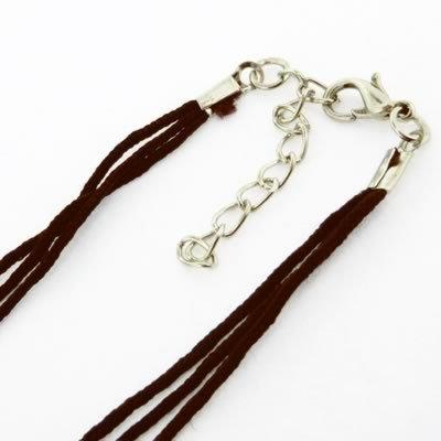 Nylon Necklace Cord - Dark Brown