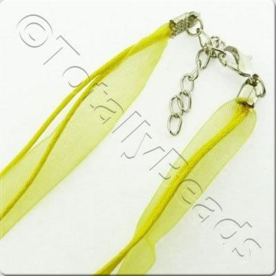 Organza Necklace Cord - Yellow