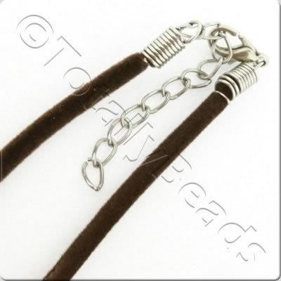 Velour Necklace Cord - Chocolate