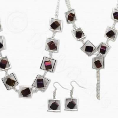 Sadie Necklace Kit - Purple Plated