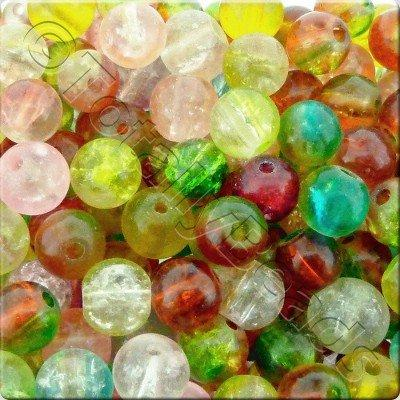 Crackle Mixed - Round 8mm - SALE