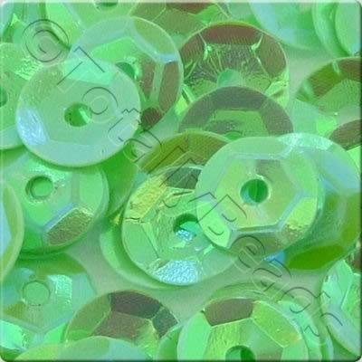 Sequins - 6mm Cup - Opaque Lime Green AB
