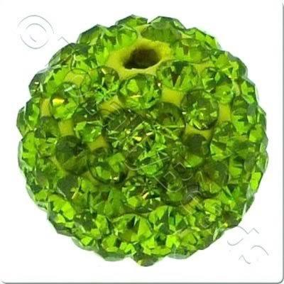 Crystal Ball Bead - 18mm Round - Olivine