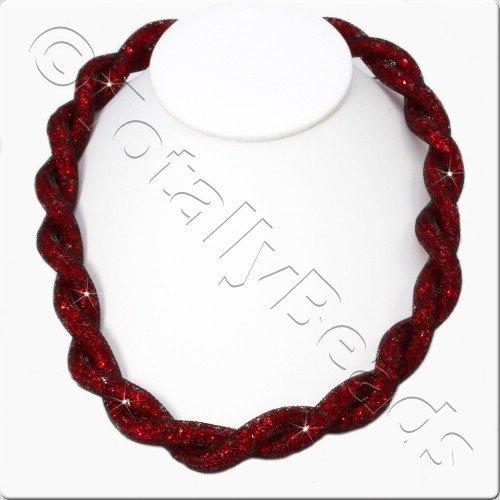 Sparkle Mesh Necklace Kit - Red