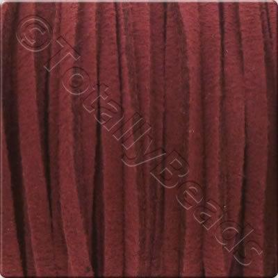 Suede Cord Burgundy - 3mm - 5m Spool