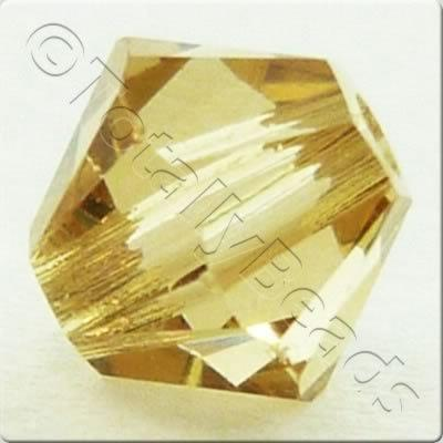 Swarovski 4mm Xilion Bicone - Light Colorado Topaz