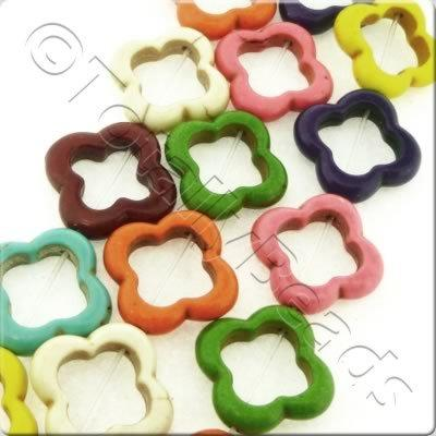Synthetic Turquoise Clover 20mm - Mixed