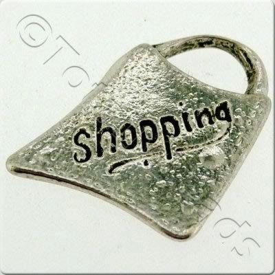 Tibetan Silver Charm - Shopping Bag