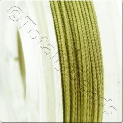 Tigertail Wire 0.45mm - Metallic Lime Green - 10m