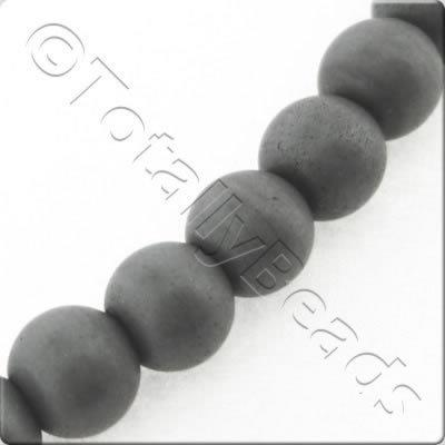 Unpolished Hematite - Round 4mm