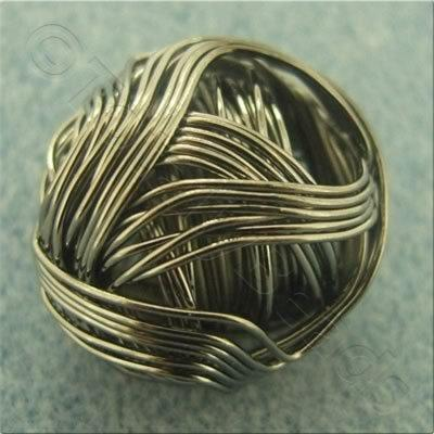 Multi Wire Bead - Round 20mm - Black