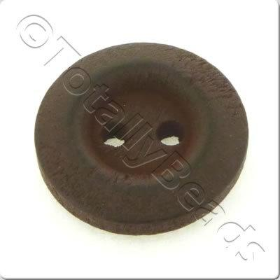 Wooden Button 15mm - Dark Brown