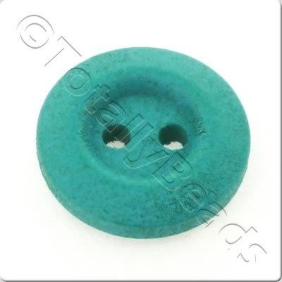 Wooden Button 15mm - Turquoise