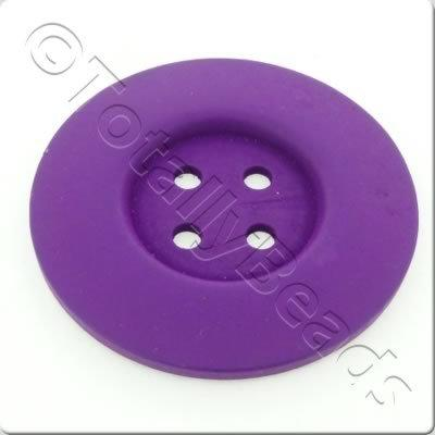 Wooden Button 60mm - Purple