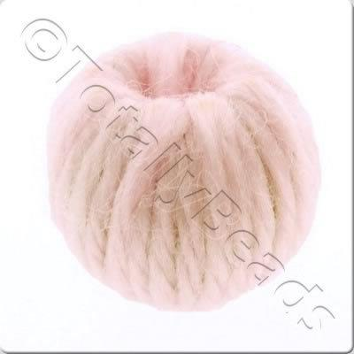 Wool Bead 22mm - Baby Pink