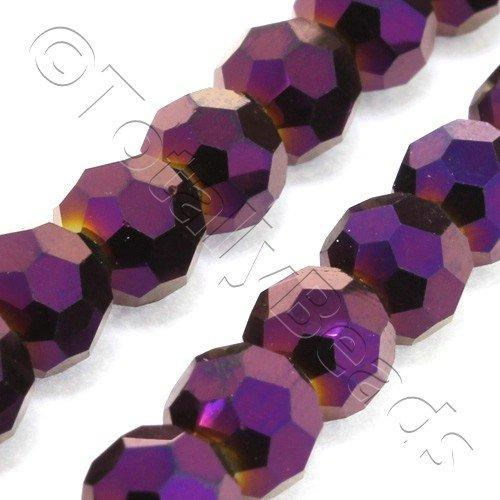 Crystal Round 6mm - Purple Iris 90pcs