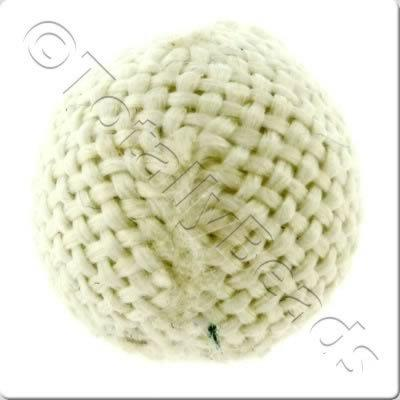Weaved Hatch Bead - White