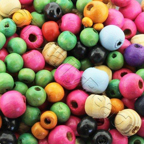 Wooden Beads Mixed Round 4-10mm 200pcs