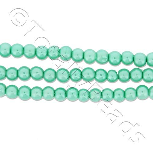 Glass Pearl Round Beads 3mm - Sea Foam Green