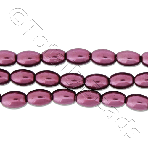 Glass Pearl Rice - Burgundy