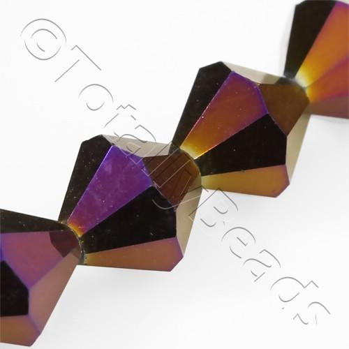 Crystal Bicone 10mm - Purple Iris 30pcs