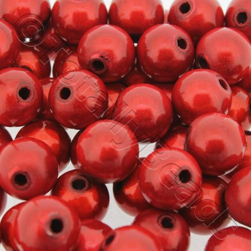 Miracle Beads - 10mm Round Red