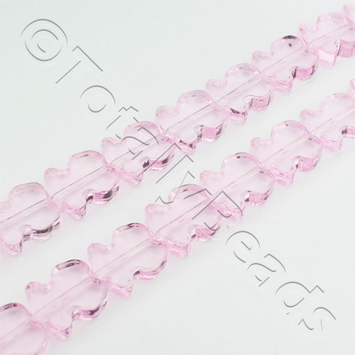 Glass Tulip 10mm - Pink