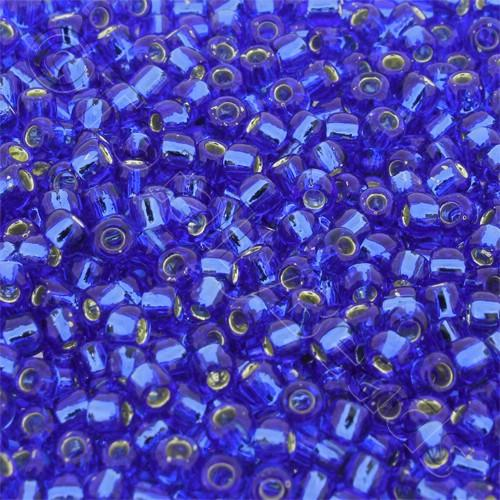 Toho Size 6 Seed Beads 10g - Silver Lined Sapphire