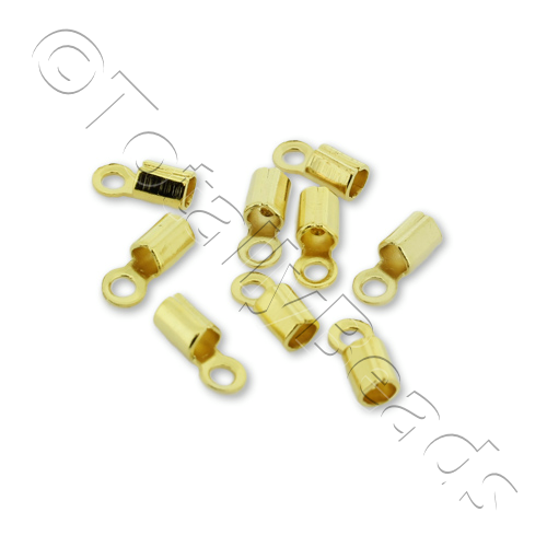 Round Cord Crimp 2mm - Gold Plated 30pcs