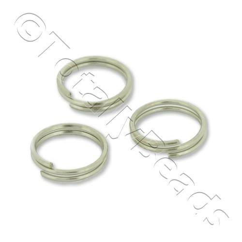 Split Rings 8mm - Rhodium Plated