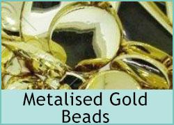 Acrylic Metal Gold Bead