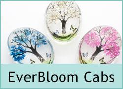 Everbloom Flower Double Cabochons