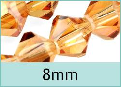 8mm Crystal Bicones