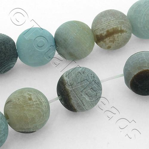 Fire Agate Round 14mm Beads - AGT03