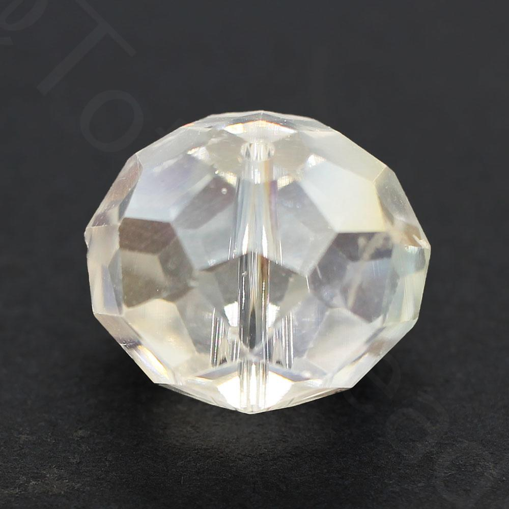 Crystal Rondelle 14x18mm - Clear AB 1pc