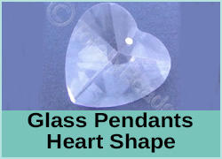 Glass Pendant Hearts