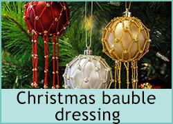 Christmas bauble dressing