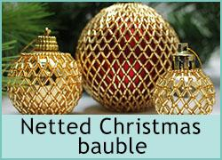 Netted Christmas Bauble