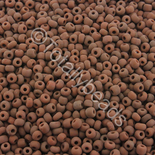 Seed Beads Opaque Frosted  Brown - Size 11